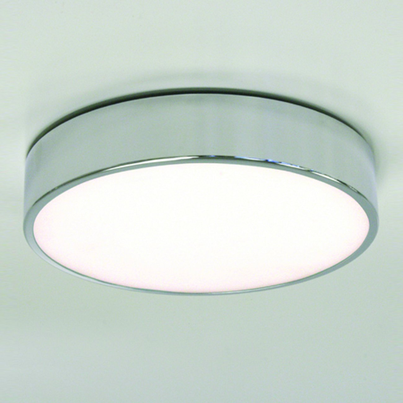 Design-Deckenlampe in Chrom mit satiniertem Glas MALLON
