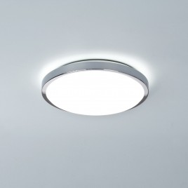 Flache, schlichte Bad-Deckenlampe in Chrom DENIA