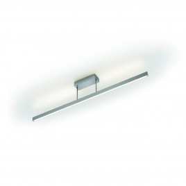 Moderne LED-Deckenleuchte in Nickel matt, dimmbar KNAPSTEIN 91.338