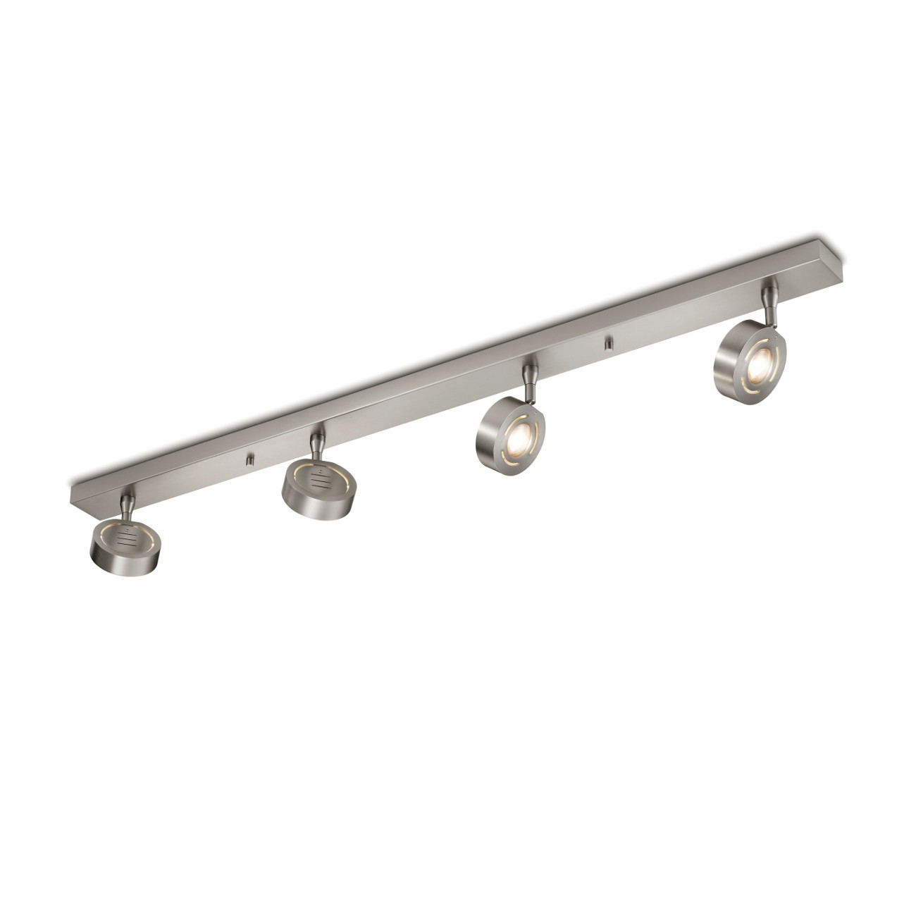 LED-Deckenstrahler 4-flammig, Nickel matt in modernem Design KNAPSTEIN 322