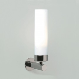 LED-Spiegellampe fürs Bad modern in Chrom und Glas matt IP44 TUBE LED Astro Chrom poliert