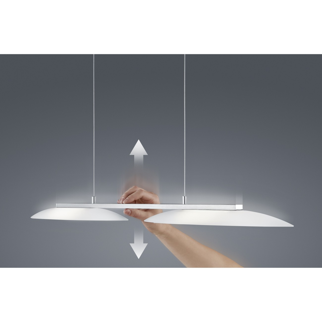 LED-Pendelleuchte SALLY 26/ 1641 Nickel matt/ Chrom
