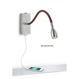 LED-Wandleuchte KNAPSTEIN 21.840 Nickel