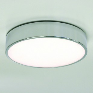 Design-Deckenlampe in Chrom mit satiniertem Glas MALLON PLUS