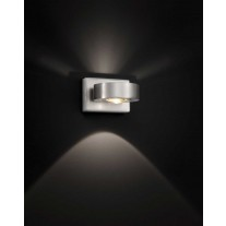 Design-Wandleuchte / Up & Downlight LED KNAPSTEIN  Nickel matt