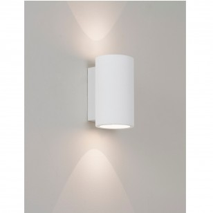 Moderne LED-Wandleuchte, Up- and Downlight, Gips Weiß BOLOGNA 160
