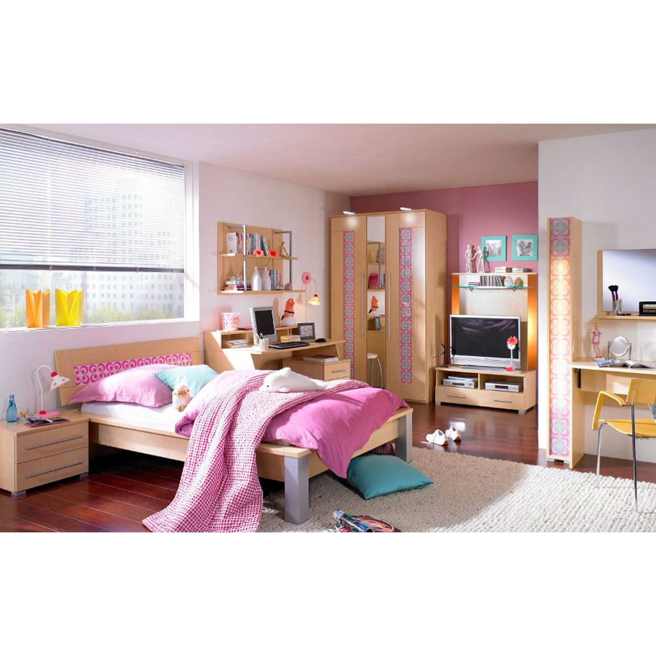 sch ne wand leseleuchte f rs kinderzimmer mit flexarm prinzessin 344. Black Bedroom Furniture Sets. Home Design Ideas