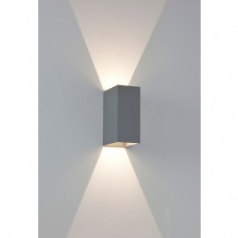 LED Wandleuchte / LED Up- & Downlight Silber lackiert