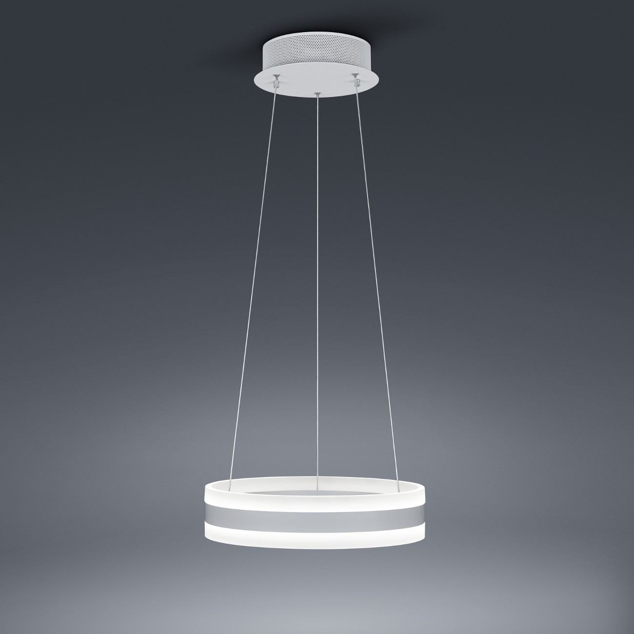 Exklusive dimmbare led pendelleuchte in wei matt design for Led pendelleuchte