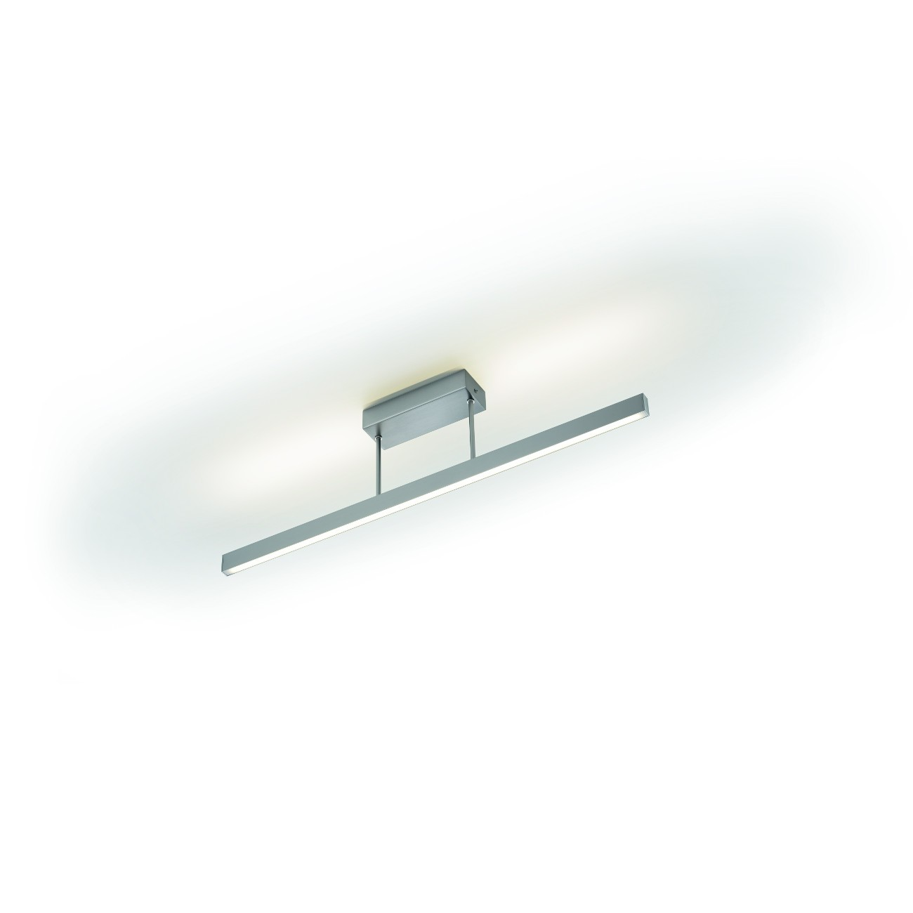 Moderne LED-Deckenleuchte in Nickel matt, dimmbar KNAPSTEIN 91.337