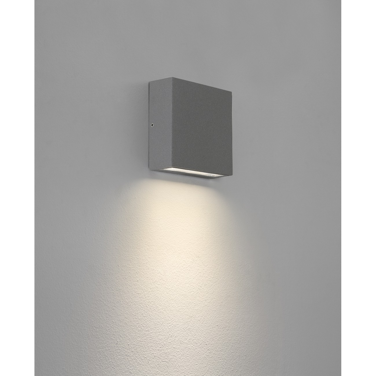 Geradlinig designte LED Außenwandleuchte / Downlight ELIS SINGLE