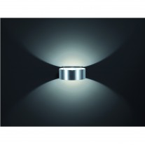 Stilechte Wandleuchte LED / Up & Downlight, Design rund FOSCA