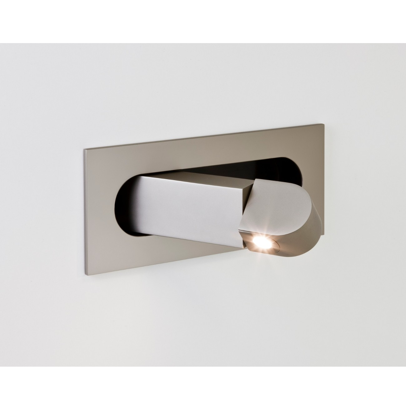 LED-Leseleuchte DIGIT Nickel matt