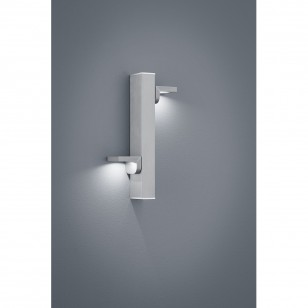 LED-Wandleuchte ARTA 28/1801 Nickel matt eloxiert/ Chrom