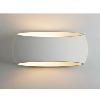 Elegante Design-Wandleuchte (groß), Gips weiß, Up & Down Light ARIA 370