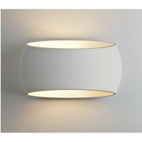 Elegante Design-Wandleuchte (klein), Gips weiß, Up & Down Light ARIA 300