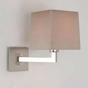 Schwenkbare Wandlampe mit eckigem Stoffschirm, elegantes Design, IP44 MOMO SINGLE Astro Putty