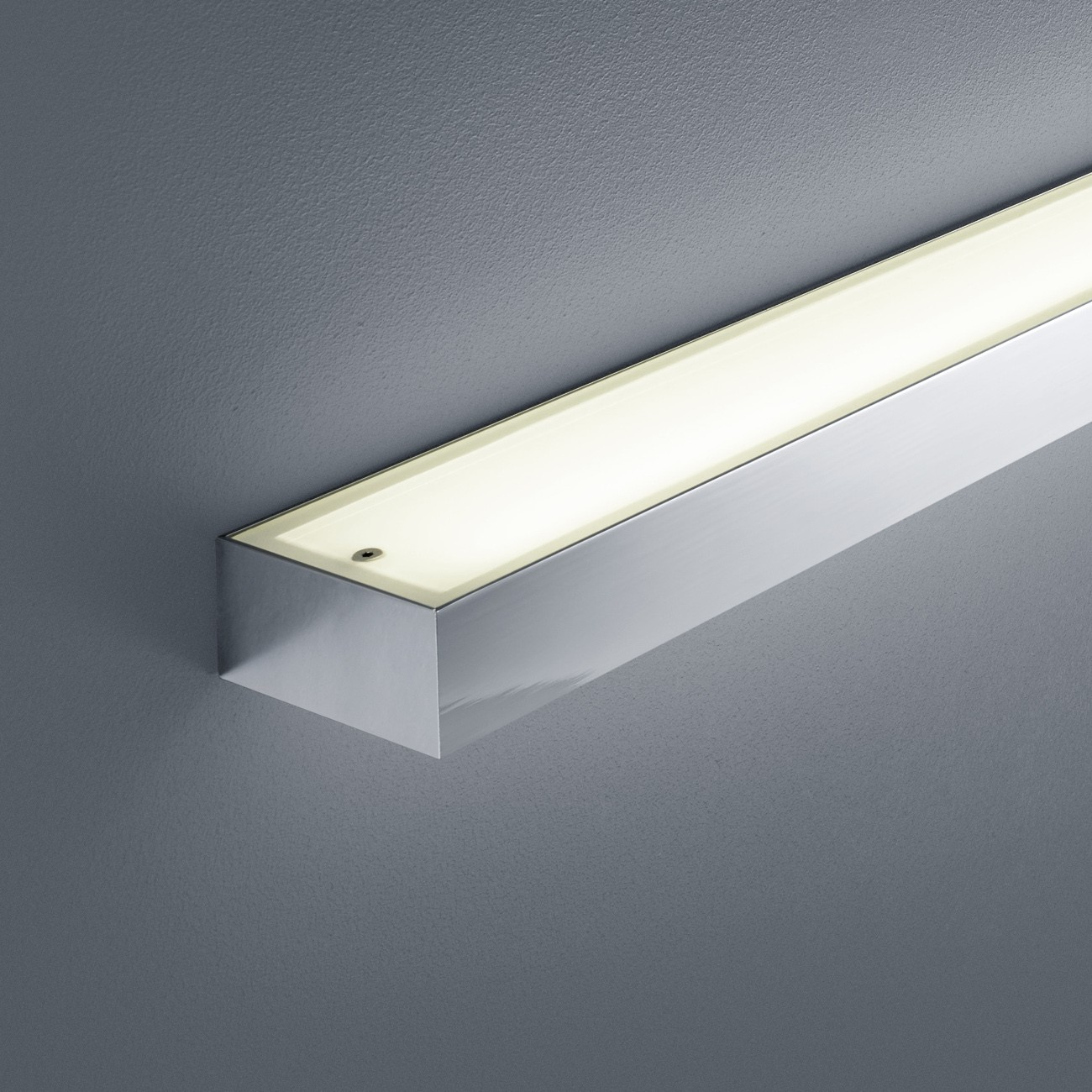 LED-Spiegelleuchte IP44 THEIA 300 Chrom