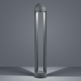 Stilvoll, designte LED Wegleuchte in Aluminium Graphit BAY A19509