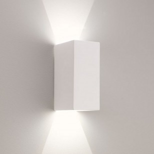 Wandlampe eckig in Weiß, schlichtes Design, Up- / Downlight PARMA 210