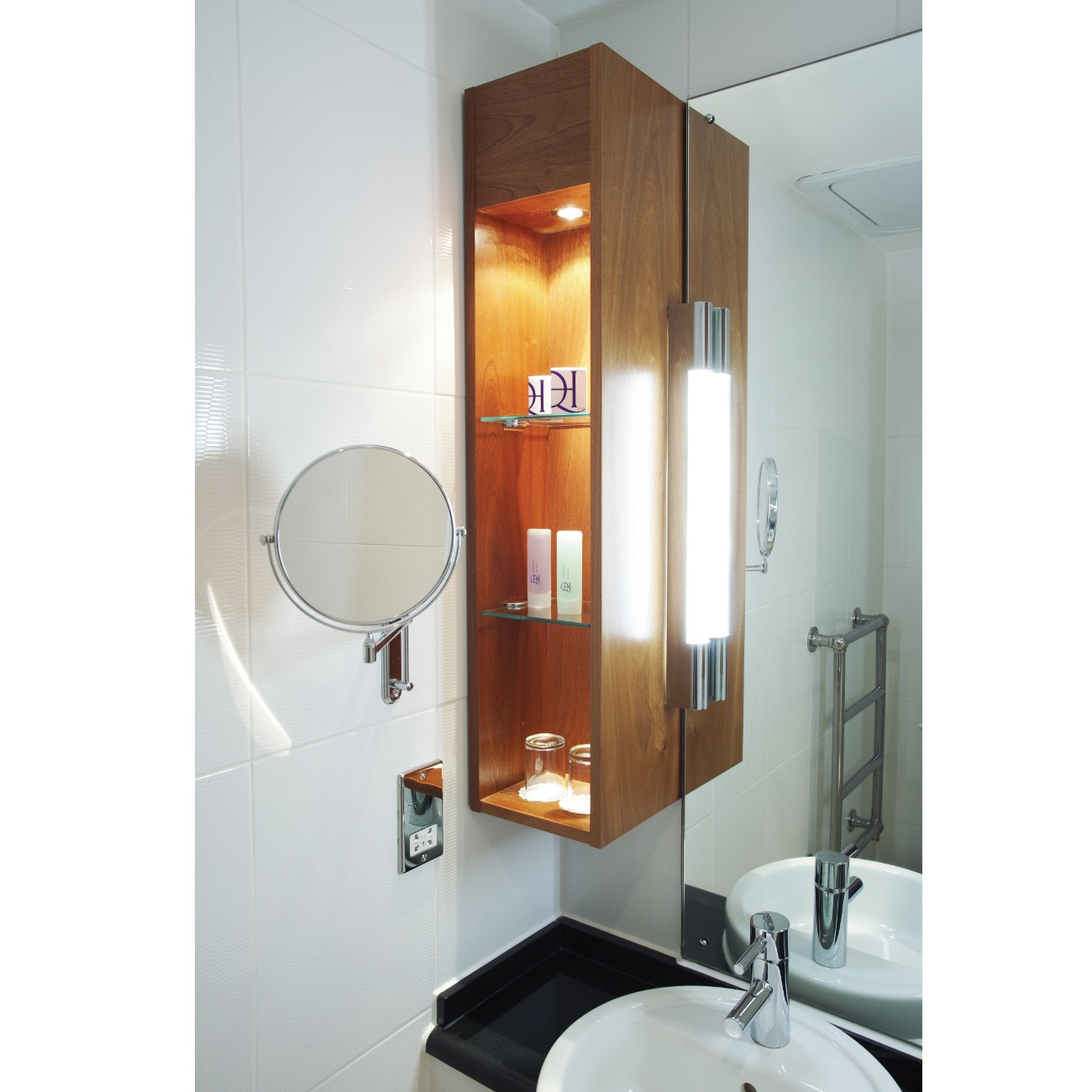 moderne led spiegelleuchte wandleuchte f rs bad chrom palermo led 600. Black Bedroom Furniture Sets. Home Design Ideas